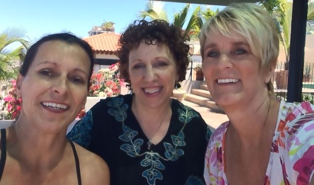 Anna, Me, and Laura getting ready to videotape our interview on her roof yoga studio.