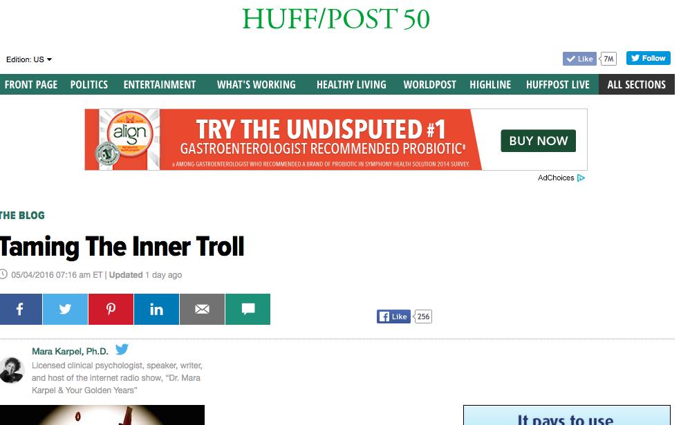 Screen Shot of Taming Inner Troll