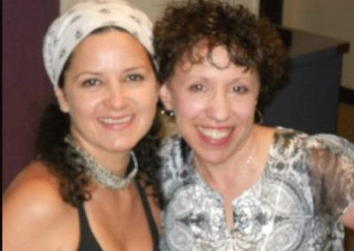 Musician Lisa Marshall with Dr. Mara