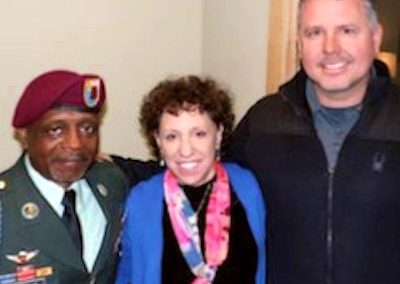 Veterans First Sgt Will Williams and Robert Hall with Dr. Mara