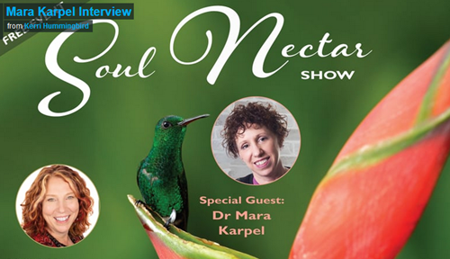 August 18, 2019:  Kerri Hummingbird Interviewed Dr. Mara on Soul Nectar Show!